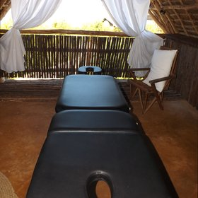 And for those who want to relax there is also a massage room.