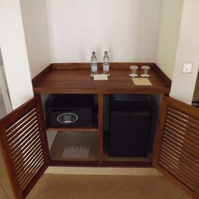 ...a minibar and an electronic safe...