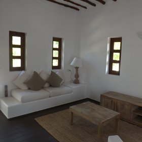 The 'new' villas have simplistic modern furniture.