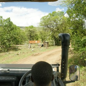 The camp is accessed down a long track from the main route across the Mara North Conservancy…