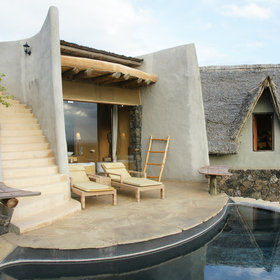 Most of Ol Donyo Lodge's rooms have private plunge pools…