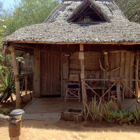 …and roofed with <i>makuti</i> palm-thatch tiles.