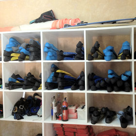Manda Bay has a very well stocked store of snorkelling equipment…