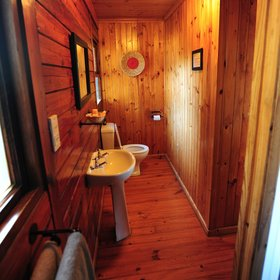 The en-suite bathrooms are fairly narrow, but come with a toilet,…