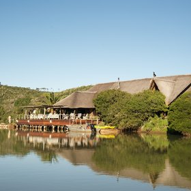 Kariega River Lodge sits in a beautiful location, on the banks of the Bushmans River.