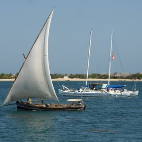…from where the comings and goings in the Lamu Channel can be watched.