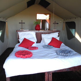 Nkasa Lupala's 10 tented rooms are clean and comfortable...