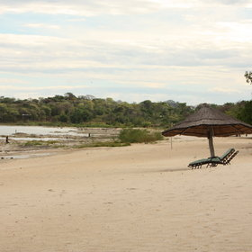 Chintheche Inn is located on a lovely beach on Lake Malawi.