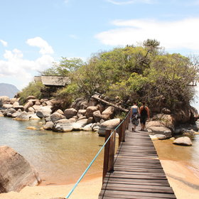 Walk back to the main area via the wooden walkway ...