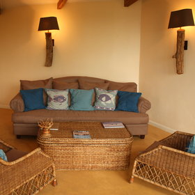 Each chalet has a separate lounge ...