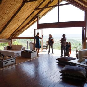 The main lounge, with jaw-dropping views from its deck, is the most dramatic feature…