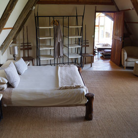 "This room serves as a second ""master"" bedroom…"