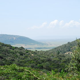 … with stunning views down towards the Mara North Conservancy.
