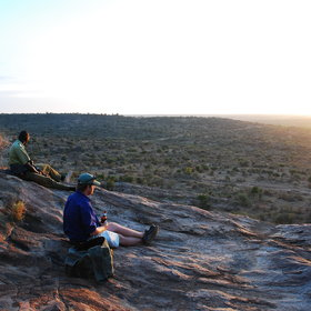 Whilst almost every day ends with a sundowner, in the bush or on top of a kopjie.