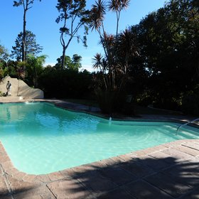The Country House has a large outdoor pool…