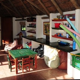 …and the Clubhouse, filled with videos, books, toys and games.
