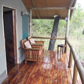 ...and an outside deck where you can sit and enjoy the views.