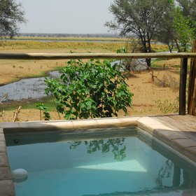 ...and a private plunge pool with great views over the surrounding terrain.