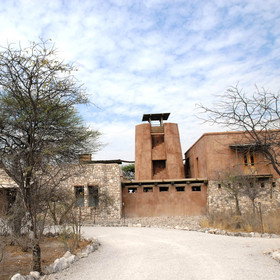 Located just outside Etosha National park is Onguma Plains Camp...