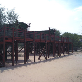 Urikaruus Wilderness Camp situdated in the Kgalagadi Transfrontier Park.