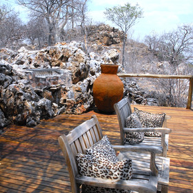 ...where guests can also enjoy a sundowner...