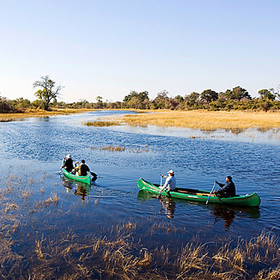 The canoe trail in Selinda Reserve offers a gentle trip through this wild area ...