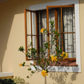 Cornerstone Guesthouse also boasts well-tended gardens...