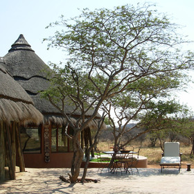 It is located away from the other Okonjima properties...