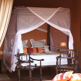 Each of the seven chalets is luxuriously furnished.