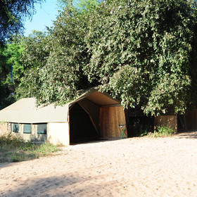Accommodation is in the form of 6 meru-style tents