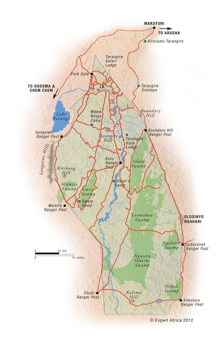 Tarangire Tanzania  City pictures : Map of Tarangire National Park | Tanzania | c Expert Africa
