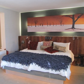 Entered through a private courtyard, the Junior Suites are smaller with an open-plan bedroom...