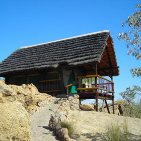 Pictures of a tented chalet at Erongo Wilderness Lodge