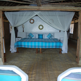 The cottages are spacious and comfortable, with a rustic and stylish feel.