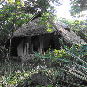 The only house at Chole Mjini that is not raised up is called the ground-house - or Sita
