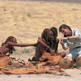 Chatting with some Himba women