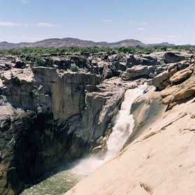 The main draw of Augrabies is the waterfall. This picture was taken at low water levels.