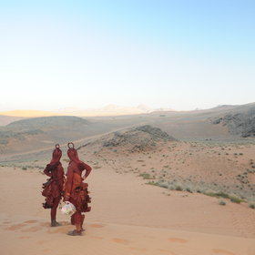 The Himba are semi-nomadic and retain most of their traditions, despite modern pressures.