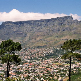 Cape Town is dominated by Table Mountain...