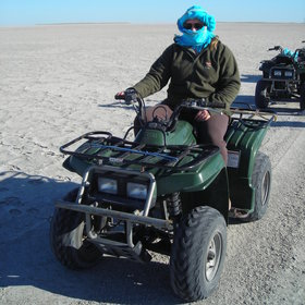 ... through quad biking excursions ...