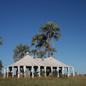 ... including the tiny San Camp, with its white-canvas tents in traditional styles.