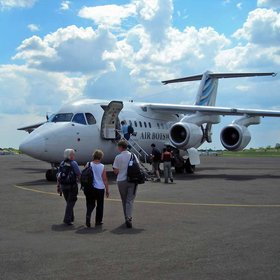 Arriving on a flight with Air Botswana