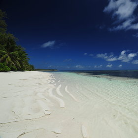 ...or even whilst relaxing on one of Desroches' stunning beaches...