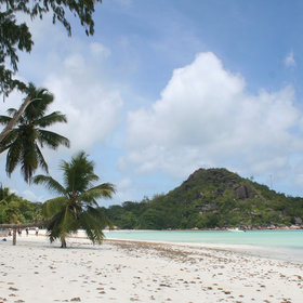 From lazing on Praslin's beautiful beaches...