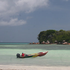 Water taxis will help you explore the island's beaches.