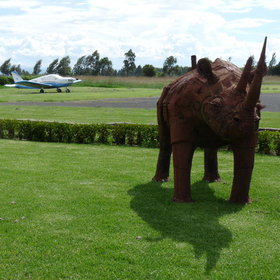 Laikipia safaris often start with a flight to Nanyuki's little airport…