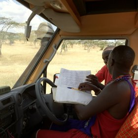 Signing in at Mara Naboisho, as in all the other conservancies, is simple…