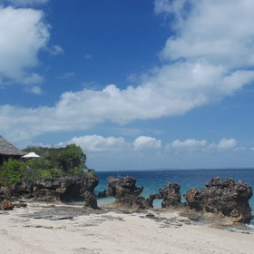 A feature of most islands is their coralline outcrops – especially Quilálea pictured here.