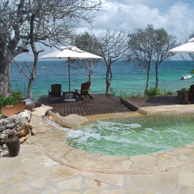 Many lodges also have a sparkling pool…