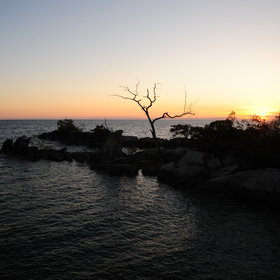 … or take pictures of amazing sunsets at Lake Malawi.